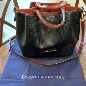 DOONEY & BOURKE LIZARD EMBOSSED LARGE BARLOW TOTE